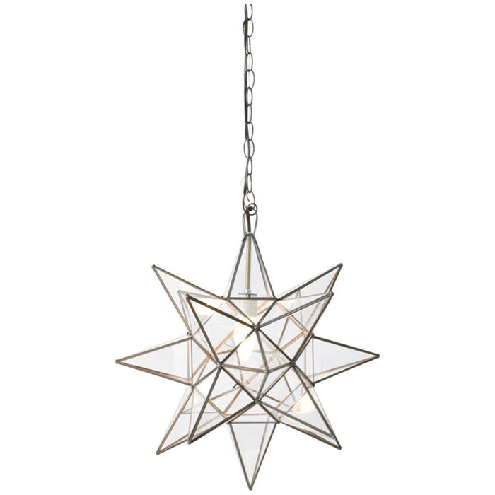 Worlds Away Clear Star Chandelier ACS110