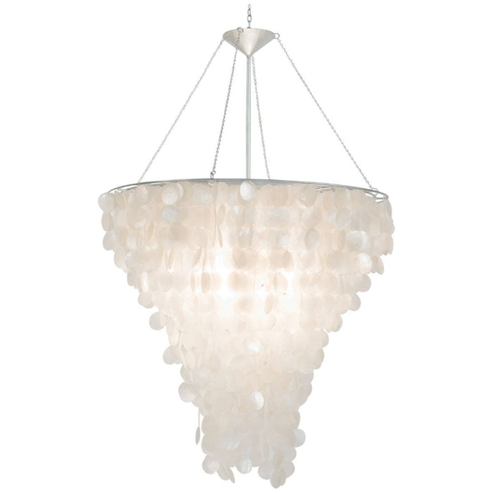 Worlds Away Large Round Capiz Shell Chandelier CHCAPIZ30