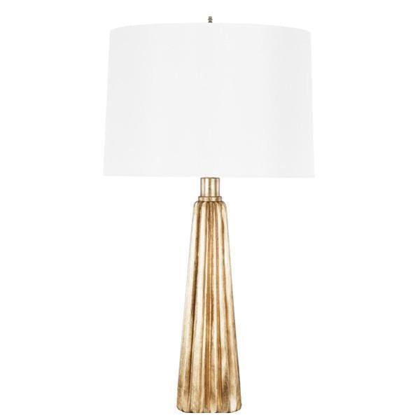 Worlds Away Leaf Tassel Base Table Lamp with White Shade