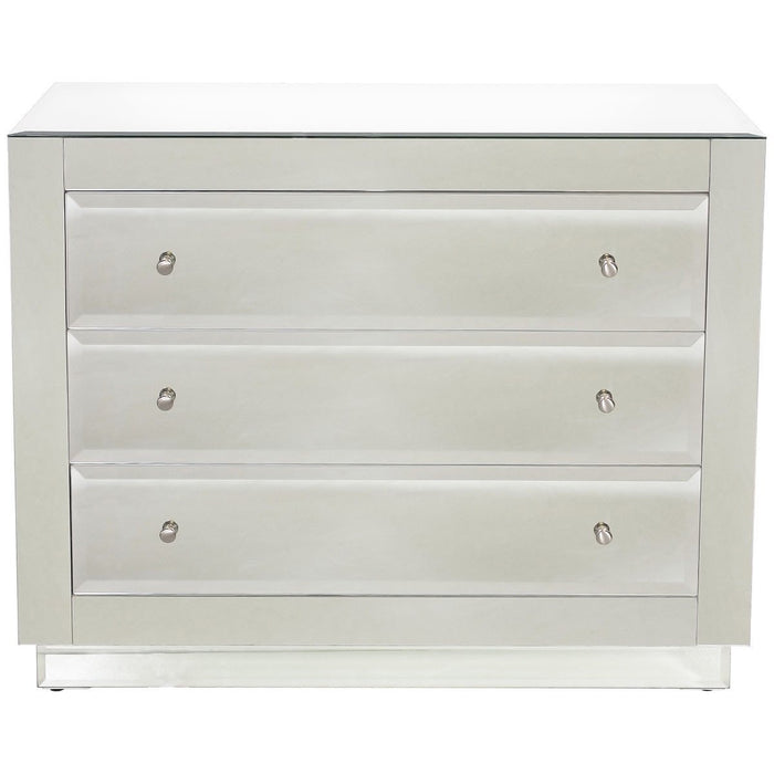 Worlds Away Beveled Mirror 3-Drawer Chest KATIE