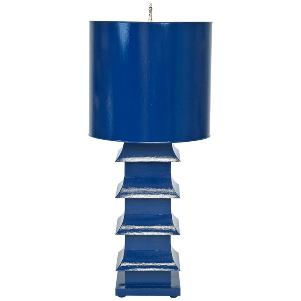 Worlds Away Large Tole Pagoda Lamp LMPHL-G