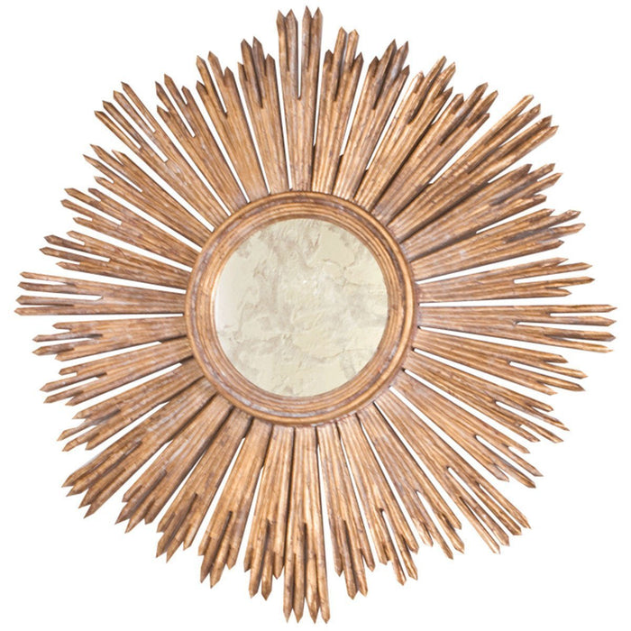 Worlds Away Handcarved Starburst Mirror MARGEAUX G