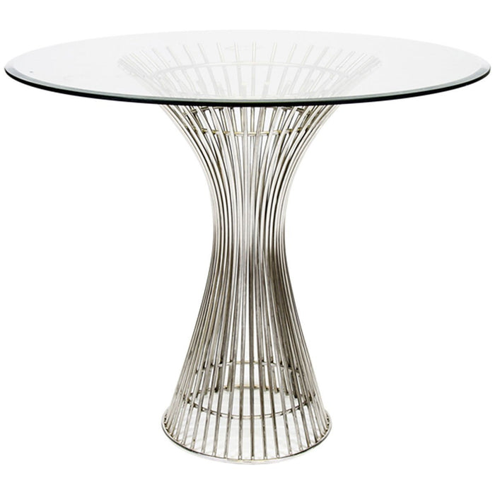 "Worlds Away Polished Stainless Side TableåÊ30""Dia Top POWELL SS30"