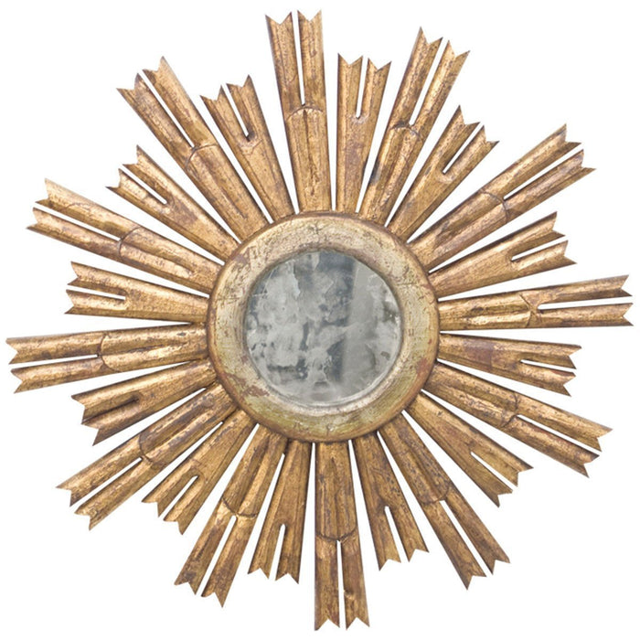 Worlds Away Starburst Mirror with Antique Mirror Center RINALDO G
