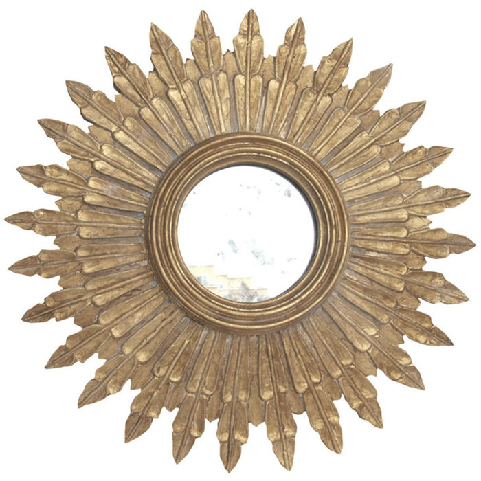 Worlds Away Small Starburst Mirror with Antique Mirror Inset SANTO G