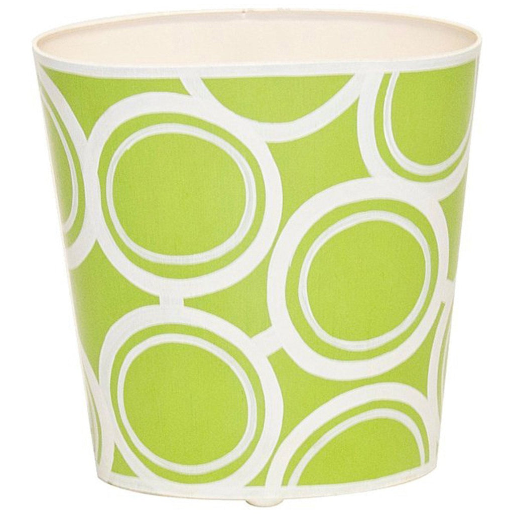 Worlds Away Oval Wastebasket