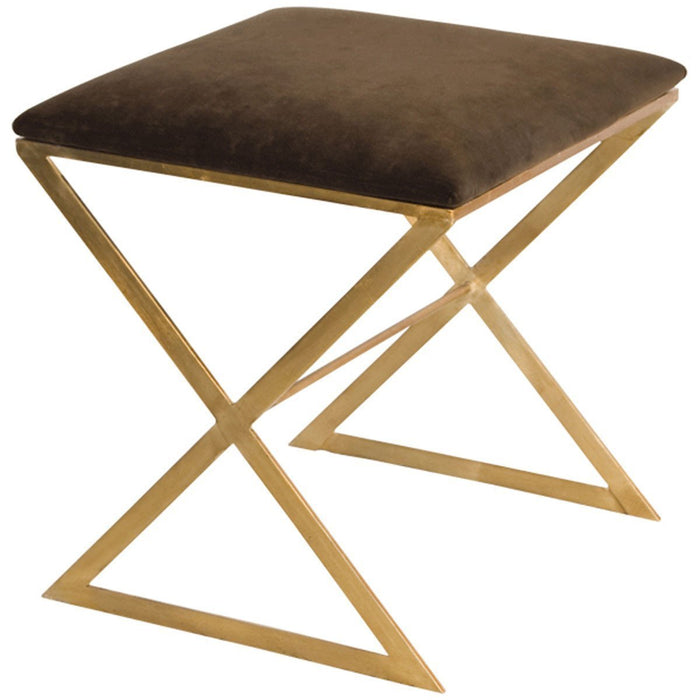 "Worlds Away ""X"" Side Stool with Velvet Top X SIDE GU"