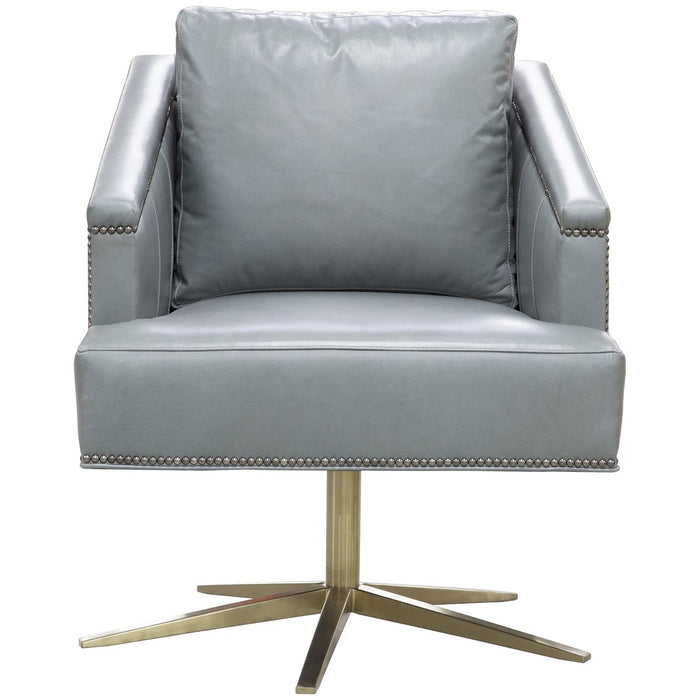 Vanguard Furniture Rutherford Satin Brass Swivel Chair