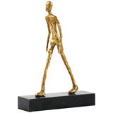 Bungalow 5 Walking Man Gold Statue