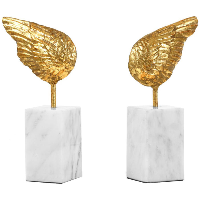 Bungalow 5 Wings Gold Statue