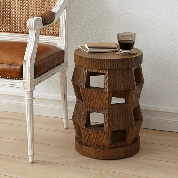 Bungalow 5 Zanzibar Stool/Side Table in Driftwood