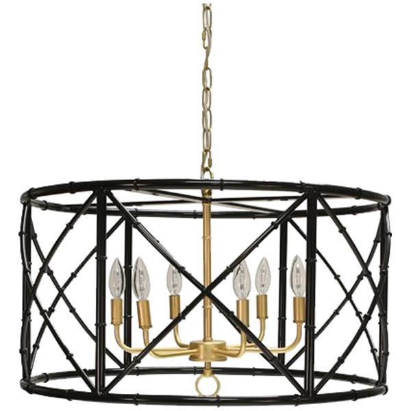 Worlds Away Six Lights Bamboo Chandelier