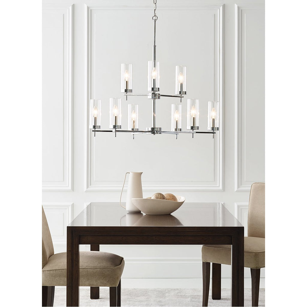 Sea Gull Lighting Zire 9-Light Chandelier - 3.5W