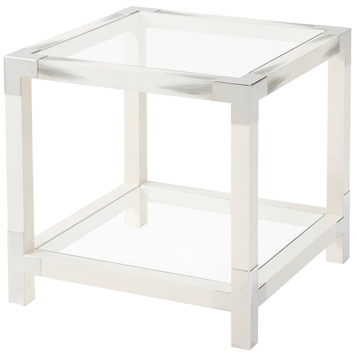 Theodore Alexander Cutting Edge Accent Table - Longhorn White
