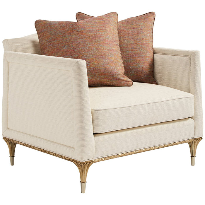 Caracole Fontainebleau Upholstery Chair - Gold Brush