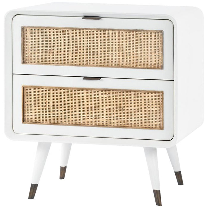 Bungalow 5 Malmo 2-Drawer Side Table - White