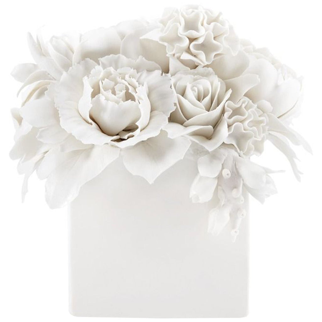 Bungalow 5 Peony Bouquet Table Decoration - White