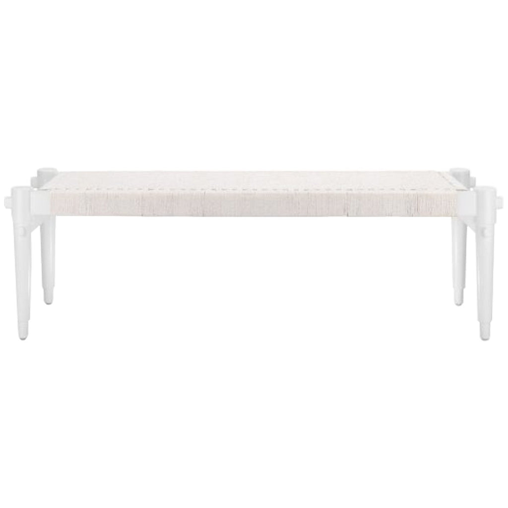 Bungalow 5 Rope Bench - White