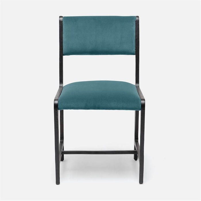 Made Goods Vallois Contemporary Metal Side Chair, Liard Cotton Velvet