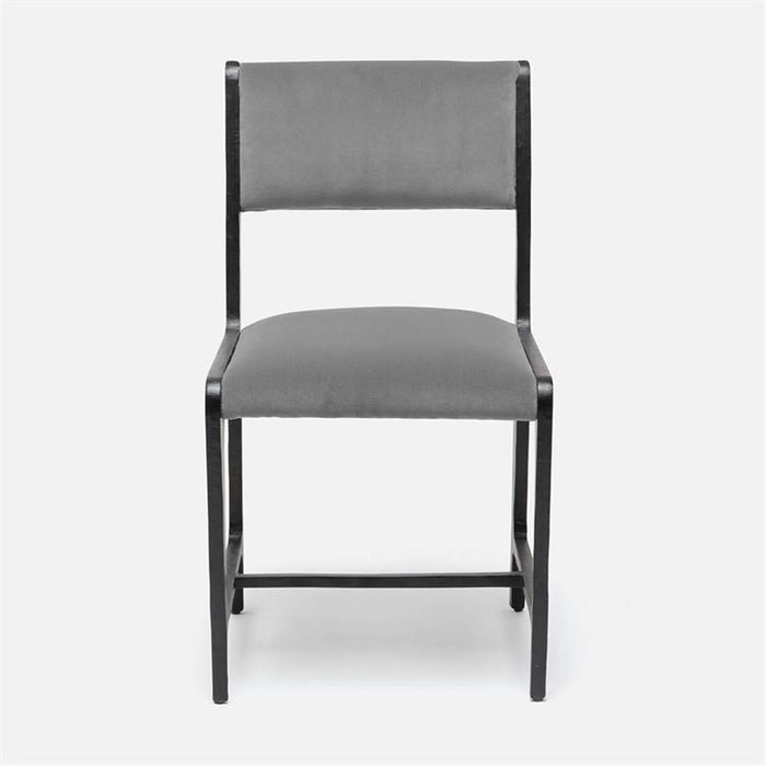 Made Goods Vallois Contemporary Side Chair, Garonne Marine Leather