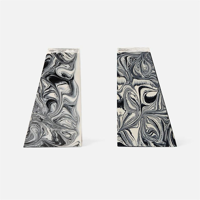 Made Goods Agnus Swirled Resin Bookends