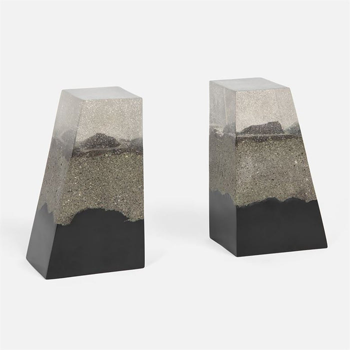 Made Goods Otis Sand Resin Bookends, 2-Piece Set