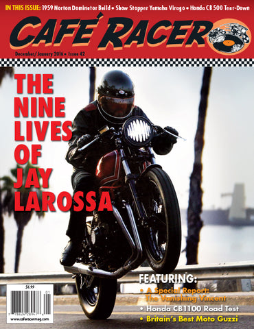 Cafe Racer Magazine cover Lossa Engineering Honda CB550