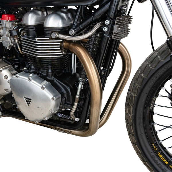 British Customs Aircooled Triumph 2-2 Tracker Pipes