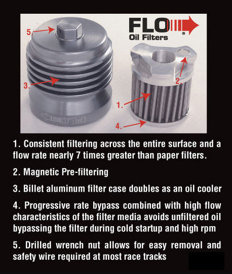 Flow reusable oil filter for Triumph