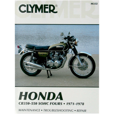 Repair Manuel for CB350/ CB400/ CB500/ CB550 Honda's 4 cyl.