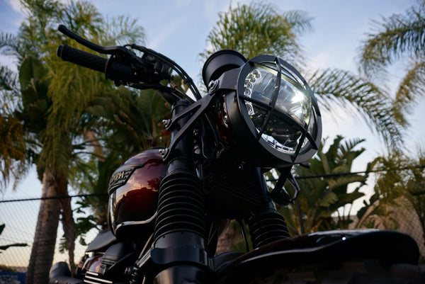 Iron Cobra's Triumph headlight guard