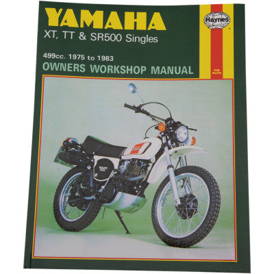 Repair Manuel for Yamaha SR500, Xt and TT