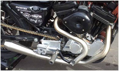 Harley 2 into 1 stainless exhaust
