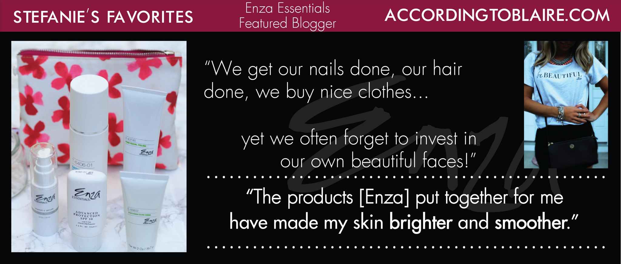 According to Blaire Stefanie's Enza Essentials Review