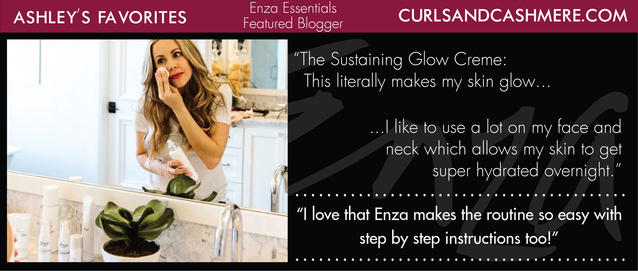 Curls and Cashmere Ashley Enza Essentials Featured Blogger Review