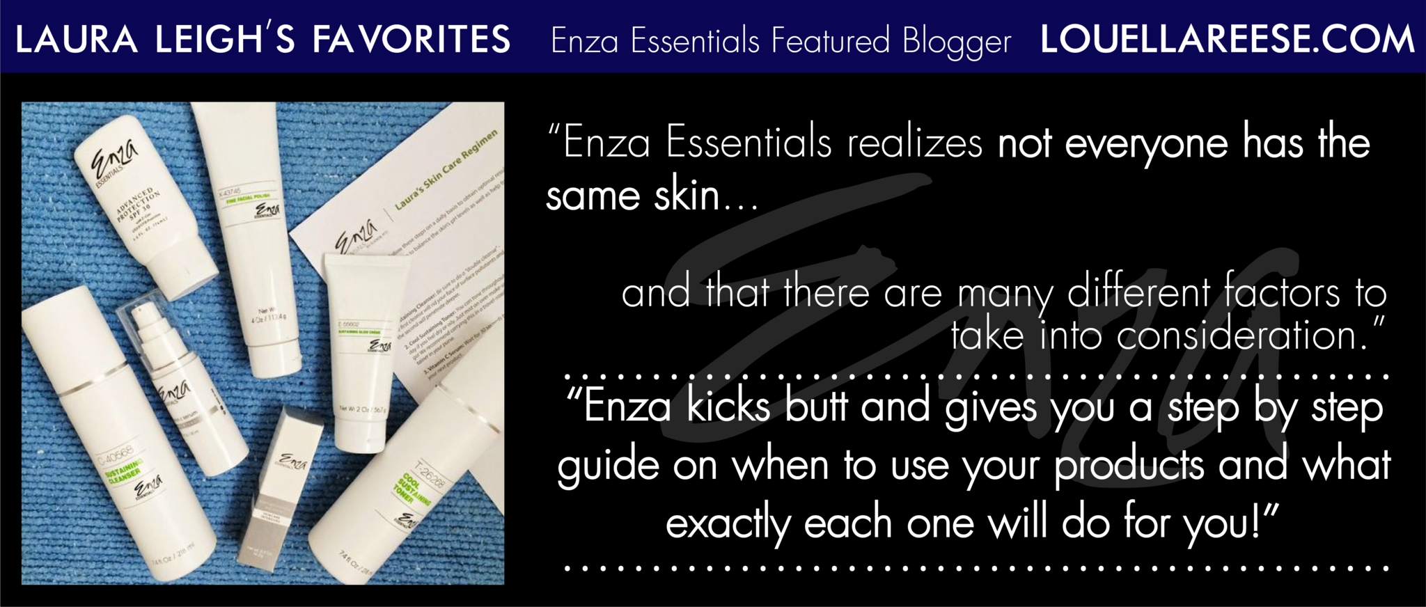 Loella Reese Laura Leigh's Enza Essentials Review