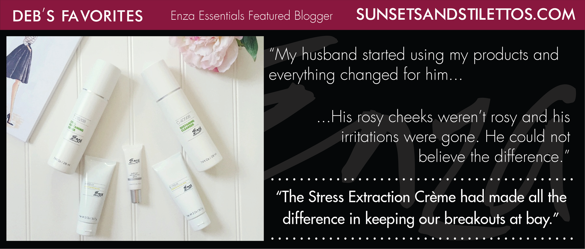 Sunsets & Stilettos Deb Enza Featured Blogger Review