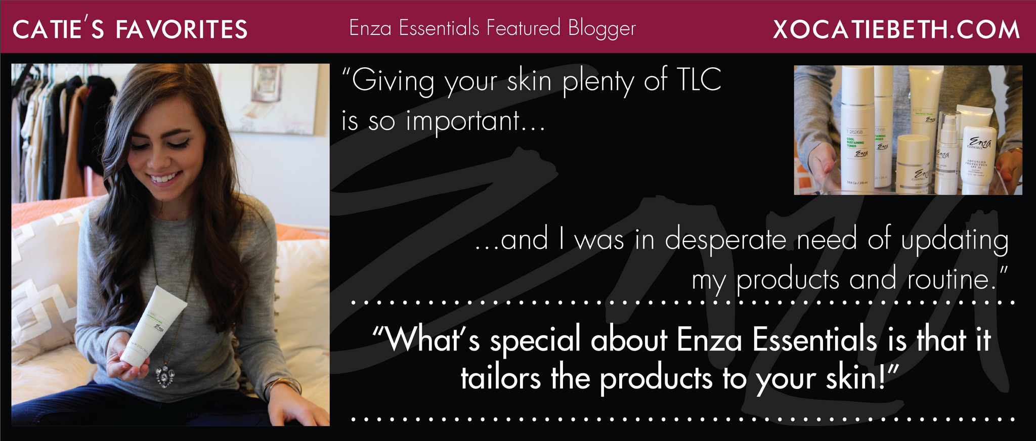 Xo Catie Beth Enza Essentials Featured Blogger Review
