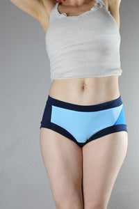 Electric Baby Blue, Panties, Color Block