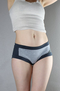 Grey Panties, Dark grey, Panties, Color Block