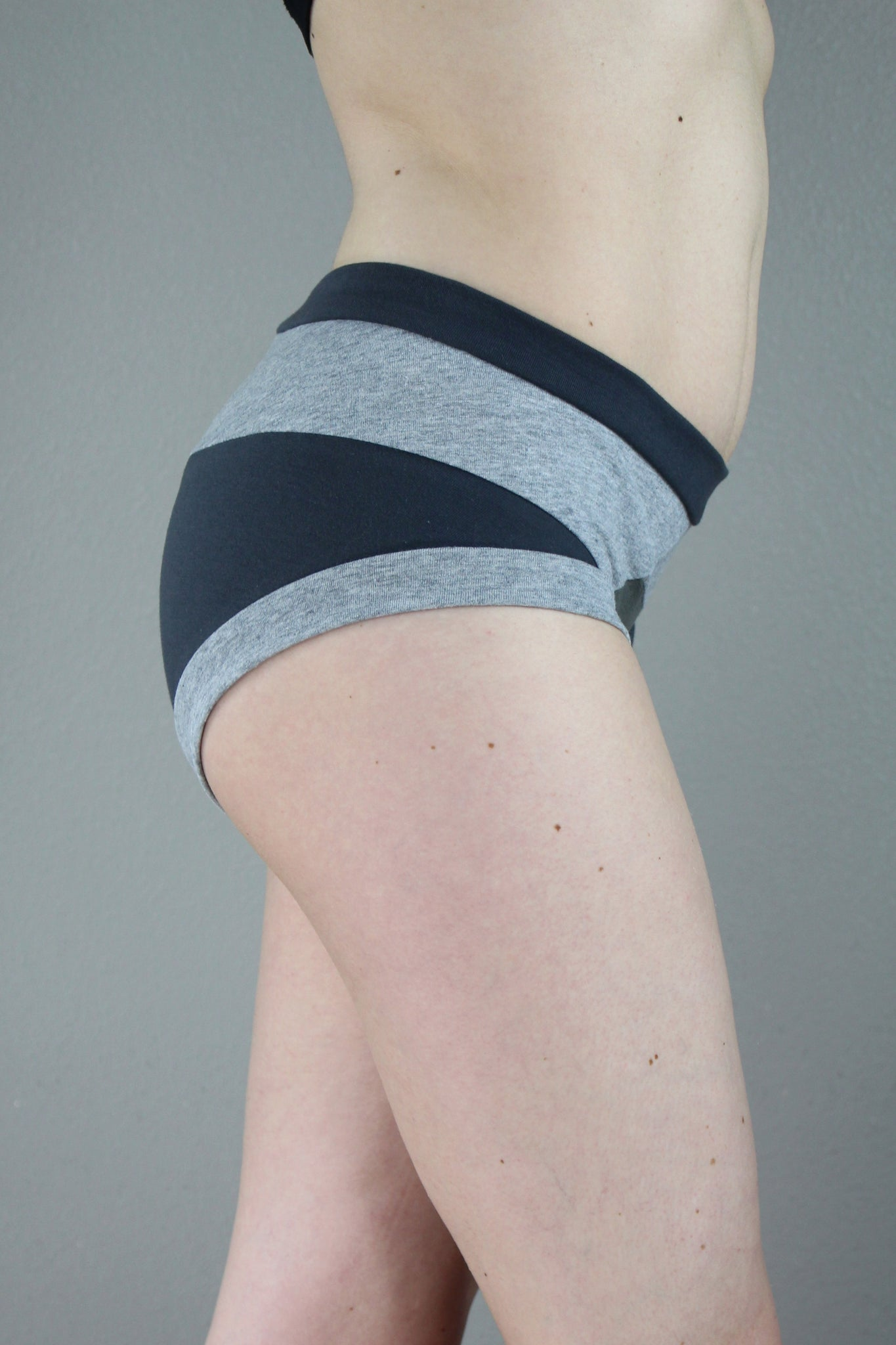 Shades of Grey Panties, Brief Panties, Color block