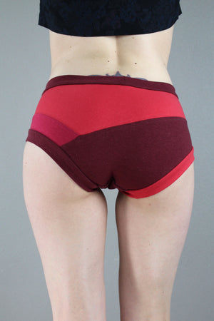 Shades of Red Panties, Brief Panties, Color block