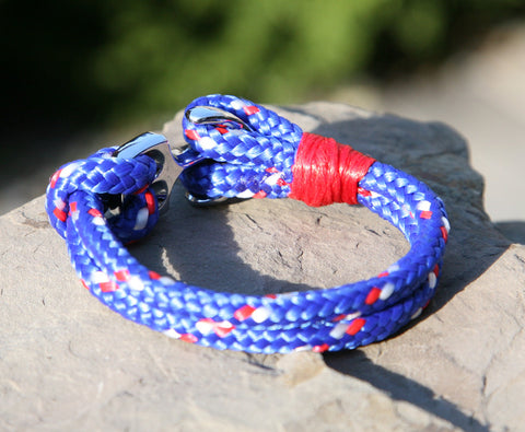 Blue and Red Nautical Bracelet 2