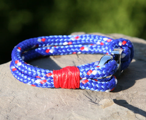 Blue and Red Nautical Bracelet 3