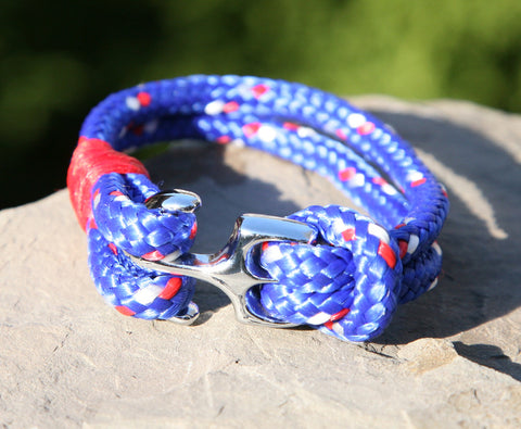 Blue and Red Nautical Bracelet 1