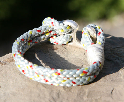 Grey Sailing Cord Bracelet with Hook Clasp 2