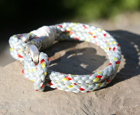 Grey Sailing Cord Bracelet with Hook Clasp 3