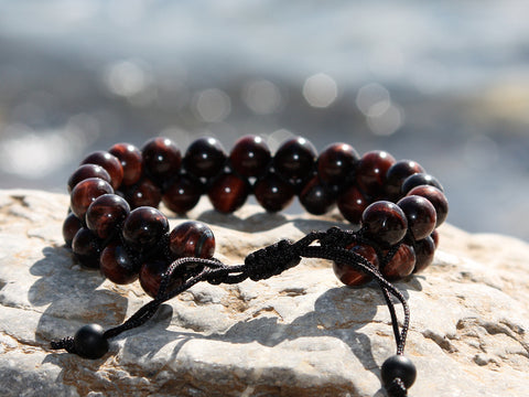 Tiger Eye Natural Stone Dual Layer Bracelet