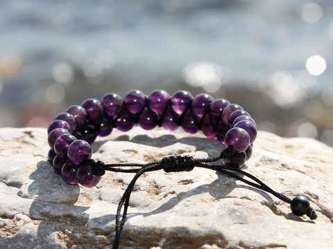 Agate Natural Stone Dual Layer Bracelet