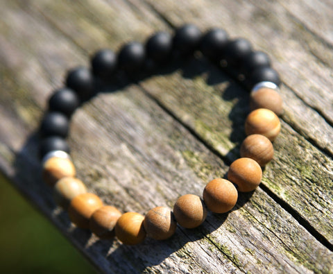 Onyx and Kuka Bead Natural Stone Bracelet
